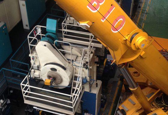 Colocación prensa industrial