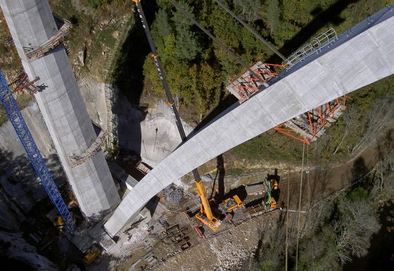 Encofrado y Hormigonado Pilares Viaducto